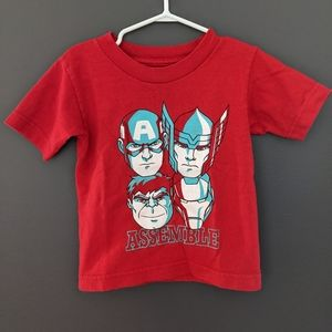 Avengers Assemble red short sleeved t-shirt
